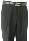 SKU#BNC723 Ralph Lauren Black Stripe Pleated Open Bottom Pants $105