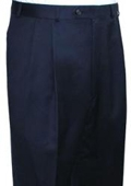 SKU#MUJ234 Ralph Lauren Navy Pleated Pre-Cuffed Bottoms Pants $95