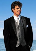 New Package Deal Ralph Lauren 2 Button Black Tuxedo with Pleated Pants + Tuxedo Shirt & Vest $275
