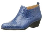 Blue Pointy toe demi-boot