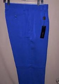 SKU#KH822 Royal Blue Wide Leg Dress Pants $99
