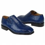 Snake Embossed Leather Shoes