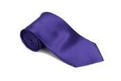 Royalpurple 100% Silk Solid Necktie With Handkerchief $29