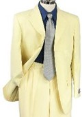 SKU#PZ7789 SHARP 2pc MEN 3B DRESS SUIT BANANA $99