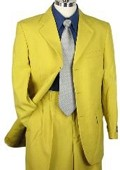 SKU#MU38593 SHARP LOOKING 2pc MEN 3B DRESS SUIT MUSTARD $99