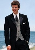 SEU#WE923 SUPER 150'S TESSORI UOMO MENS BLACK WOOL TUXEDO 4 BUTTON HAND MADE ITALIAN DESIGN FRENCH C