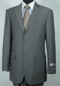 100% Wool Grey Stripe