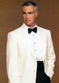 SKU#KS893 Shawl Lapel 100% Super 100s Wool Ivory Dinner Jacket $199