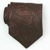 Brown/Burgundy Woven Paisley/Flower Pattern