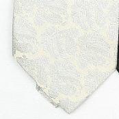 Cream /Metallic Silver Woven