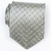 Grey/Black/Gold/White Woven Necktie $39