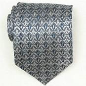 Grey/Silver/Blue Woven Necktie $39