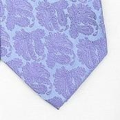 Purple/Metallic Silver Woven Paisley/Flower