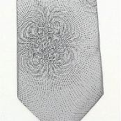 Silver/Black Woven Paisley/Flower Pattern