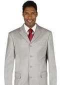 SKU#MUC74 Silver Light Gray Dress Party lightweight and comfortable Suit $79