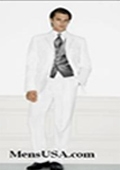 SKU# TM72 Single Breasted EXTRA FINE HAND MADE White Tuxedo Dress Suit $289