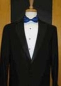 SKU#MW341 Single Button Notch Lapel Black Tuxedo $149