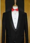 SKU#LR234 Single Button Shawl Lapel Black Tuxedo $89