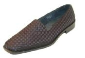 Slip-on pump with woven