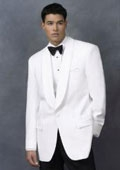 SKU#SP1 Snow White Dinner Jacket 100% Poly 1 Button Shawl Collar  $139