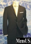 SKU# 221 Solid Black 3 Button Very Light Soft Wool Super 120's Wool $149
