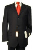 SKU# RB_EM_SOLID Solid Black premeier quality italian fabric Men's Super 140's Wool Man Business Suit $105