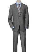SKU#SP10 Solid Light Gray Quality Suit Separates, Total Comfort Any Size Jacket&Any Size Pants $239