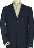 Solid Navy Blue Quality Suit Separates, Total Comfort Any Size Jacket&Any Size Pants $239