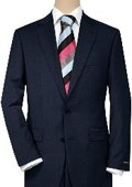 Solid Navy Blue Quality Suit Separates, Total Comfort Any Size Jacket&Any Size Pants $189