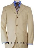 SKU#SP4 Solid Tan~Beige Quality Suit Separates, Total Comfort Any Size Jacket&Any Size Pants $239