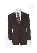 Mens Two-button Corduroy Brown