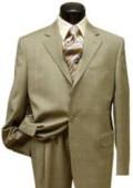 2 button Conservative Mini Pindots Teakweave Nailhead Salt & Pepper Birdseye Patterned Beige Suit $149