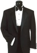 SKU# ZT-W3 Super 120's Wool One Button Tuxedo Suit + Tuxedo Shirt and Bow tie $149