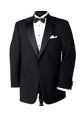 SKU# ZL-129 Super 150's Wool premeier quality italian fabric Design 1 Button Tuxedo jacket + Pants + Shirt + Bow Tie $199