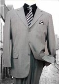 SKU#SX49634 Super 120'S G-Gray Solid Color Suit $79