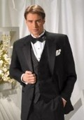 SKU#YZ6765 Super 140's Virgin Wool Tuxedo by Mantoni $199