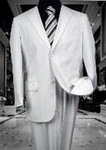 SKU#MRS456 TS-02 MENS SOLID COLOR WHITE 2 BUTTON WOOL 2PC SUIT BY:JEAN PAUL SUPER 130'S EXTRA FINE I