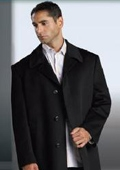 SKU#MUCoat07 Tailored Shorter Length Wool Blend Hidden Buttons under Front Placket Notch Lapel $139