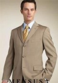 Tan/Bronz Super 140s Wool