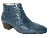 genuine snakeskin zip-boot Plain-toe