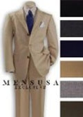 SKU# JST229 Top Quality Boys Solid Beige/Tan 3 Buttons Worsted Light Weight Wool Suit $149