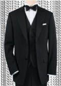 SKU#ASHI992  Black Tuxedo 1or2or3or4 Button Style $169