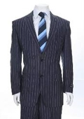 Button Blue Pinstripe Denim