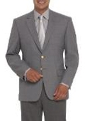 Center-Vented Gray Blazer (Men