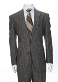Button Grey Pinstripe Linen