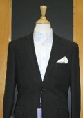 2 Button Tapered cut Half Lined Flat Front Black Linen Feel Touch Poly Rayon Wrinkle Touch Super Light Weight Suit $179