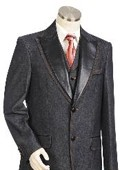 SKU#MK5455  Men's Two Buttons Style comes in Grey $149