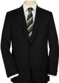 SKU# SM28 UMO High-quality Construction 2 Button Black om Solid Black Ultimate Tailoring & Wool