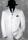 SKU#HINW5 Unique Excluisve White & White Stripe Ton on Ton Shadow Fashion Long Tuxedo $189