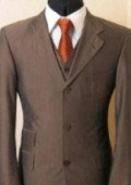Vested Brown Shark Skin